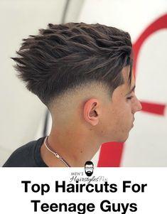 33 Cooler Than Ever Haircuts For Teenage Guys - Men's Hairstyles Teenager Haircuts Boys, Teen Boy Haircuts, Barber Haircuts, Haircuts For Men, Teenage Boy Hairstyles, Hairstyles Haircuts, Boys Fade Haircut, Teenage Guys, Faded Hair