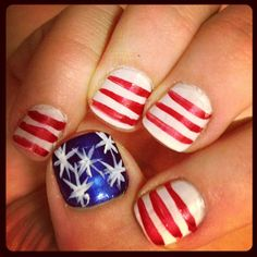 shellzzzz's festive tips. Show us your 4th of July-inspired nails! Tag your pic #SephoraNailspotting to be featured on our social sites.
