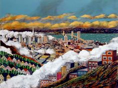 SF from Twin Peaks | Guy Buffet | Fine Art 360 #sanfrancisco #painting #art #twinpeaks