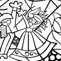 Desenho De Romero Britto Casal Dancando Para Colorir Desenhos Do