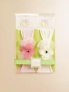 Baby Bling - Infant's 2-Piece Flower & Bow Headband Gift Set - Saks Fifth Avenue Mobile