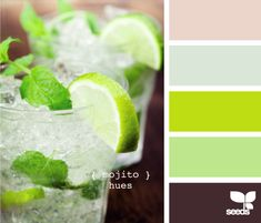 Design Seeds has tons of gorgeous, modern color combos for decorating, inspired by everyday finds.  This lime green looks, amazingly, way calmed down by the coffee colors.  Love it!