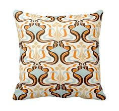 One 18x18 Orange Pillows  Decorative Throw by SimpleSophisticated, $16.00