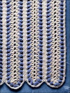 Free Blue Mile Afghan Crochet Pattern -- Download this free crochet afghan pattern