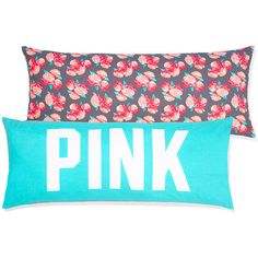 PINK Body Pillow ($45) ❤ liked on Polyvore featuring home, bed & bath, bedding, bed pillows, floral, pink body pillow and pink bed pillows