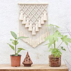Macrame Wall Hanging Patterns, Macrame Art, Macrame Design, Macrame Projects, Macrame Patterns, Handmade Wall Hanging, Bohemian Wall Tapestry, Tapestry Wall, Decoration