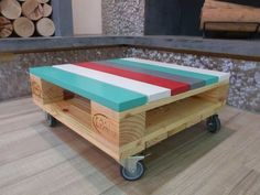 Wow, this is wonderful looking wood pallet table plan. This is multipurpose pallets table best to keep indoor and outdoor. We have used pallets wood to create this beautiful looking table and by adding wheels to it we make it valuable and appealing to use.