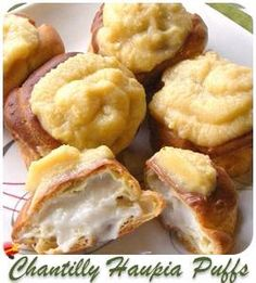 Delicious Cream Puffs with Haupia filling recipe. Get more Hawaiian style desserts here.