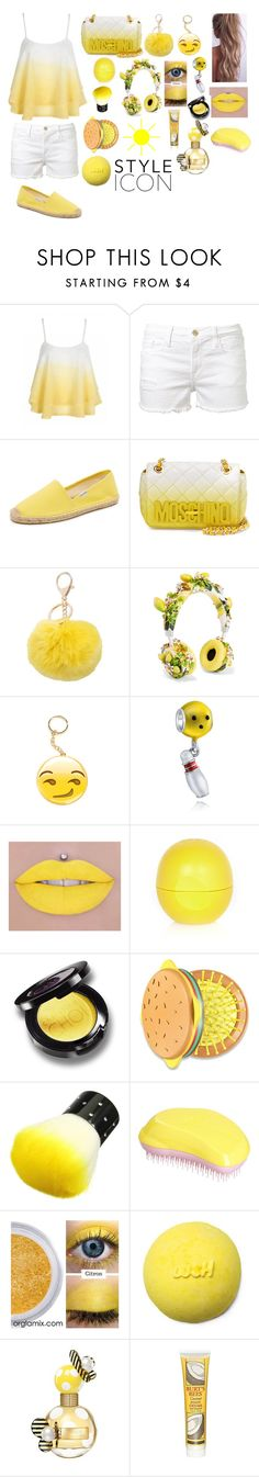 """""""💛🔆"""" by nsstr2016 ❤ liked on Polyvore featuring Frame Denim, Soludos, Moschino, M&Co, Dolce&Gabbana, Bling Jewelry, River Island, Forever 21, Tangle Teezer and Marc Jacobs"""