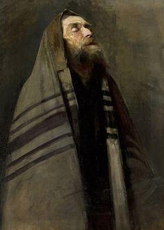 Aleksander Grodzicki: Judío rezando, 1893.