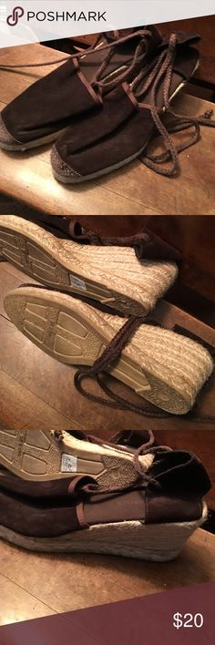 Beautiful ankle lace up espadrilles Great gently worn condition. Beautifully made ankle lace up espadrille. Shoes
