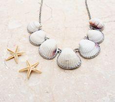 Seashell Jewelry | Seashell Necklace Beach Jewelry shell solder by StaroftheEast