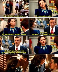 Hollywood Ending - PEGGY AND SOUSA. I recently rewatched Captain America: The First Avenger, and it was a lot less sad now that Peggy has found happiness with Daniel.