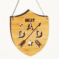 Best dad bamboo wall hanging