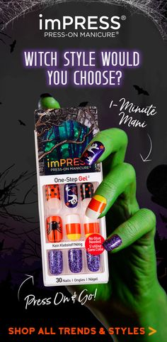Impress Halloween Nails 2020 40 Best Halloween imPRESS Manicure Designs   LIMITED EDITION