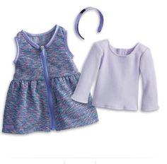 American Girl Purple Sparkle Outfit Set for Doll DRJ15 MYAG BRAND NEW!  | eBay