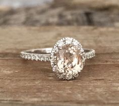 Hey, I found this really awesome Etsy listing at https://www.etsy.com/listing/245092806/oval-peach-champagne-sapphire-diamond