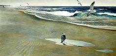 Andrew Wyeth 'On the Beach' 1946, tempera on masonite