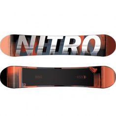 Nitro Team Gullwing Wide snowboard white red