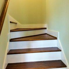 Beautiful Hard Wood Stairs #CompassPointeNC #Builders #CustomHome #Staircase  #ResortLiving #CoastalLiving