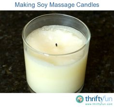 Making Soy Massage Candles
