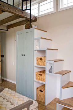 House Design, Home Interior Design, House Interior, Stairs Design, House Stairs, Tiny House Interior Design, Home Remodeling