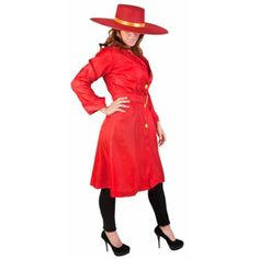 Adult Red Carmen San Diego Costume