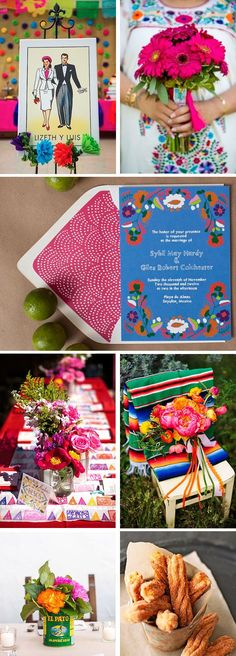 Mexican wedding ideas - love the colors, wedding stationery design, etc.  Beautifully vivid!