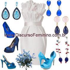 Noiva Branco e Azul