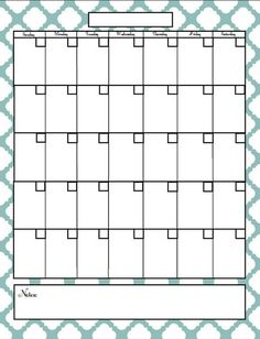 Site with printable calendar pages and planners.- using this for my monthly menu planning! Blank Calendar, Free Printable Calendar, Calendar Pages, Printable Planner, Free Printables, Monthly Calendars, Calendar Ideas, Blog Planner, Planner Pages