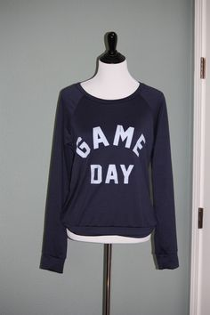 'Game Day' Navy Blue Crewneck Pullover