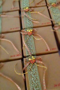 κραφτ κουτάκια σε vintage στυλ