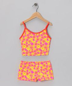 Love this Pink Mini Floral Tankini - Girls on #zulily! #zulilyfinds                                                  12.99