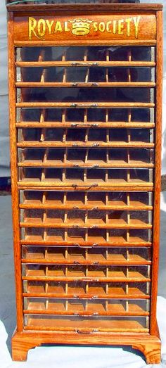 Royal Society Spool Cabinet, 15 Glass Front Drawers, BRASS LANTERN ANTIQUES