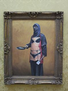 Tradition, religious beliefs and gender roles vs. liberation, seduction and moral decay -- Bansky Art by denny.wong, via Flickr