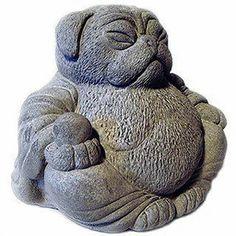 Zen PUG Dog Buddha Garden Art Statue Sculpture by Tyber Katz from TyberKatz on Etsy. Saved to Snuggle Pug. Buddha Sculpture, Dog Sculpture, Art Sculptures, Pug Art, Buddha Art, Buddha Statues, Black Pug, Cute Pugs, Funny Pugs