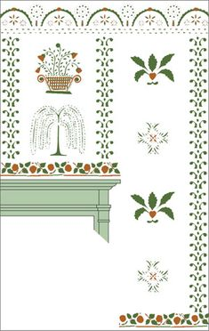 just bought the top border stencil for my living room from MB Historic Stencils