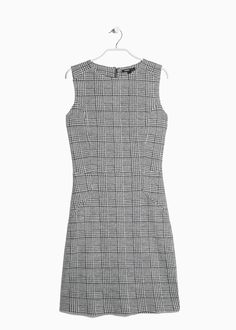 Prince of Wales wool-blend dress — Mango