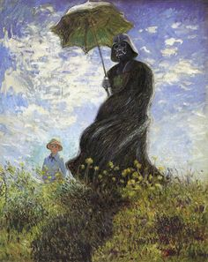 Vader with Parasol. The Dark Lord. Digital Painting by Dave, limpfish http://urbanfragment.wordpress.com/tag/dark-lord/