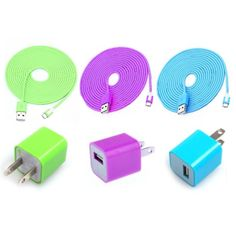 Colorful Iphone 5 chargers