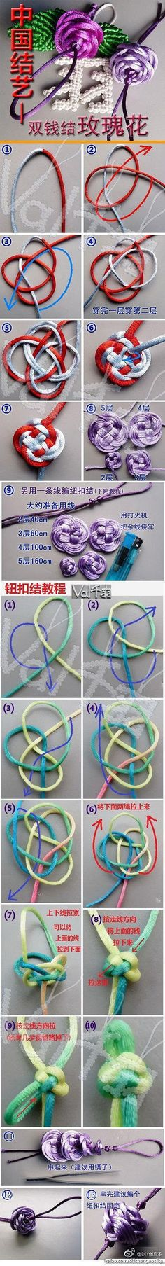 Special knots using heavy string or cord