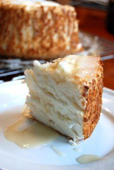 Ettie's Eats: Mile-High Angel Food Cake with Lemon Glaze - 417 Blog - October 2013 - Southwest Missouri