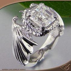 Margaret S Dragon Wedding Ring Set Colorado Rings Weddingrings Engagementrings