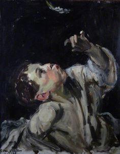 WALTERS , EVAN JOHN ( 1893 - 1951 ) Evan Walters: Boy with a Feather