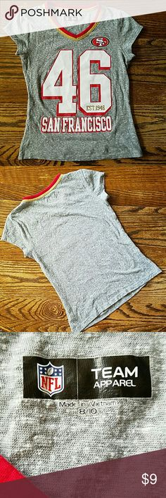 SF 49ers Tee Cute girls glittery 49er tee. NFL Team Apparel Shirts & Tops Tees - Short Sleeve
