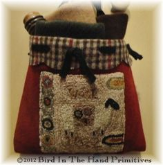 punched wool bag