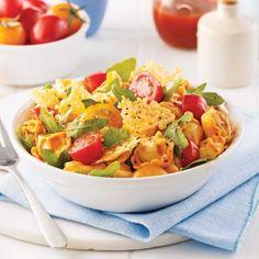 Salade de tortellinis à la roquette - Soupers de semaine - Recettes 5-15 - Recettes express 5/15 - Pratico Pratique