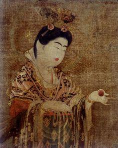 国宝 吉祥天像 奈良時代(8世紀)、奈良・药師寺 蔵