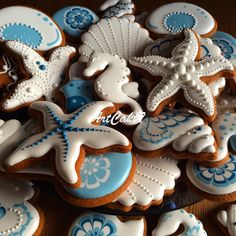 Ideas cupcakes decorados ideas fondant for 2019 Summer Cookies, Fancy Cookies, Iced Cookies, Cute Cookies, Royal Icing Cookies, Cupcake Cookies, Cut Out Cookies, Mermaid Cookies, Iced Biscuits