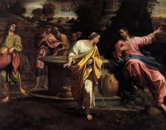 Samaritan Woman at Well Drawing | The Samaritan Woman at the Well - by CARRACCI, Annibale - from ...